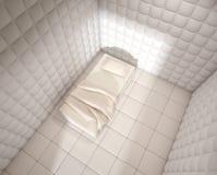 L'ospedale mentale ha riempito la stanza da Fotografia Stock Libera da Diritti