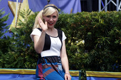 L'ospite Ashley Eckstein della celebrità durante lo Star Wars Weekends 2014 Fotografie Stock