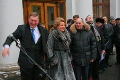 L'ospite di onore Valentina Matvienko, uno dei politici femminili contemporanei più famosi Fotografia Stock