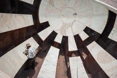 L'osservatorio o Jantar Mantar a Jaipur, Fotografia Stock Libera da Diritti