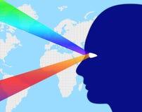 L'osservazione mondiale indica spiare ed il pianeta di sorveglianza illustrazione vettoriale