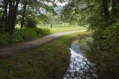 L'ossiacher d'autria de sentier de randonnée voient Photo libre de droits