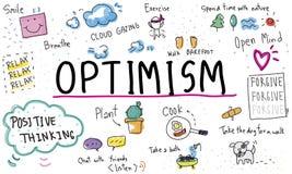 L'ottimismo di consapevolezza si rilassa Harmony Concept Royalty Illustrazione gratis
