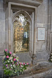 L'ottone commemorativo ha dedicato a Jane Austen, romanziere inglese Fotografia Stock Libera da Diritti