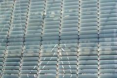 L'otturatore d'acciaio allinea il fondo Immagini Stock