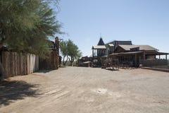 L'ouest sauvage, les fermes abandonnées et les maisons photo stock