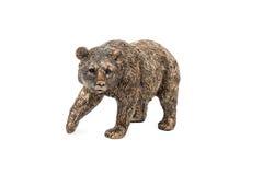 L'ours en bronze a soulevé sa patte image stock