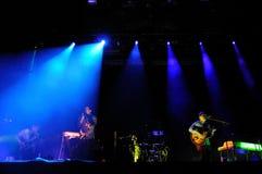 L'ours gris, groupe de rock américain de Brooklyn, exécute au festival 2013 de bruit de Heineken Primavera Photographie stock libre de droits