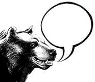 L'ours parle illustration libre de droits