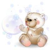 L'ours souffle des bulles Photo libre de droits