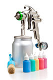L'outil pour mettre la peinture images stock