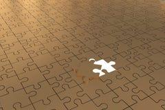 L'or ouvert de morceau de puzzle Image stock