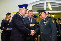 L'ouverture du premier point de contact commun sur l'Ukrainien-HU Image libre de droits