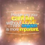 L'oxygène est plus important que l'amour Photo stock
