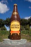 L & P Monument. The famous L&P (Lemon and Paeroa) Monument in Paeroa, New Zealand Stock Photo