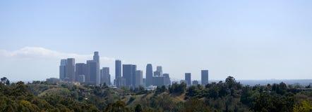 L.A. Panorama del centro dell'orizzonte Immagini Stock