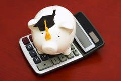 L'épargne calculatrice d'éducation Image stock