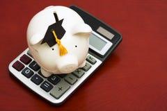 L'épargne calculatrice d'éducation Images stock