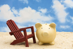 L'épargne de vacances Photos libres de droits
