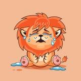 L'petit animal de lion pleure Photo libre de droits