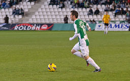 López Silva  in action during match league Cordoba vs Numancia Stock Photo