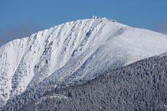 l'più alta montagna della repubblica ceca Fotografia Stock