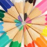 L?pis coloridos Conceito da educa??o, da faculdade criadora e da arte foto de stock royalty free