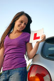 L plate Royalty Free Stock Photo
