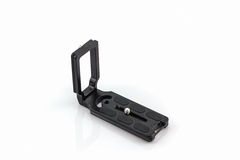 L Plate bracket camera accessories for panoramic photography. Stock Photo