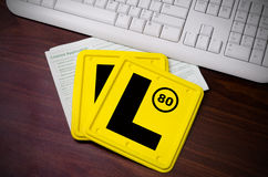 L Plates and Licence Application Royalty Free Stock Image
