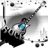 L'potenza di musica rock Immagine Stock