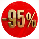 L'or 95 pour cent se connectent le rouge Photos stock