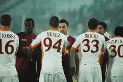 L'équipe de football de COMME Roma Images libres de droits