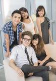 L'équipe de l'ami Image libre de droits
