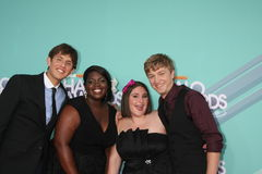 (L-R) 2011 HALO Award honorees Kyle Weiss,  Shanoah Washington, Emily-Anne Rigal, and James O'Dwyer arriving at the 2011 Nickelode Stock Photography