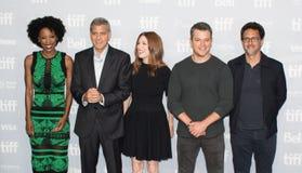 Matt Damon `Downsizing` Premiere at Toronto International Film Festival 2017. L-R Actress Karimah Westbrook, writer/director/producer George Clooney, actors Stock Photo