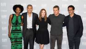 Premiere of the film Suburbicon at toronto international film festival Stock Photography