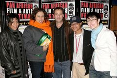 L-R Grace Phillips, Lydia Martinelli, David Mercer, Clinton H. Wallace and Claudia Lari at the Pan African Film Festival Premiere  Stock Photo