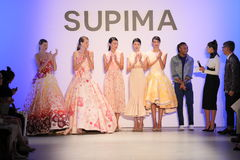 (L-R) Supima Design Competition Finalist Jeffrey Taylor on stage during the Supima Design Competition 2016 Stock Photography