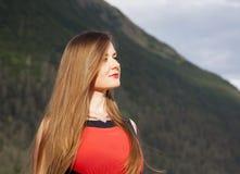 L'In Red Portrait di signora fotografia stock