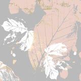 L'or rose de feuillage d'automne rougissent fond illustration libre de droits