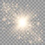 L'or rougeoient effet de la lumi?re illustration stock