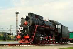 L series steam engine. Soviet L series steam locomotive on the railway Stock Photography