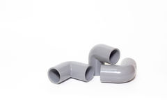 L shape of PVC spare part for pipelines Stock Photography