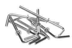 L-Shaped Hooks Macro Isolated Stock Photography