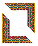 L-shaped Isolated Textile Border Royalty Free Stock Images