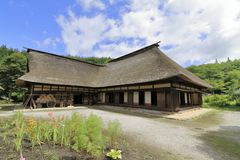 L shaped Japanese house. In Tono, Iwate, Japan stock photo