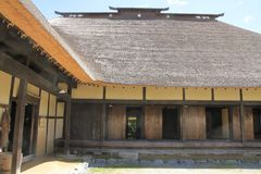 L shaped Japanese house. In Tono, Iwate, Japan royalty free stock images