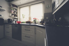 L-shaped kitchen Royalty Free Stock Photos