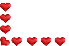 L Shaped Valentines Heart Border Royalty Free Stock Photo